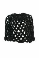 Paula Lishman Hand Crocheted Beaver Tube Shawl