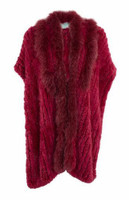 Paula Lishman Hand-Knit Sheared Beaver Fur Elena Wrap