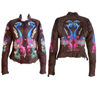 Kippy's Carnival Raw Edge Jacket in Chocolate