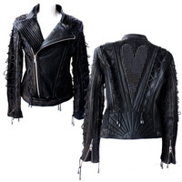 Kippy's Metal Heart and Lacing Moto Jacket