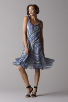 Komarov Sleeveless Scarf Dress