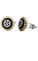 King Baby Studio Two-Tone Gear Cufflinks