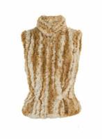 Paula Lishman Hand Knit Beaver Fur Jockey Vest