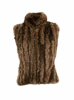 Paula Lishman Hand Knit Beaver Amy Vest