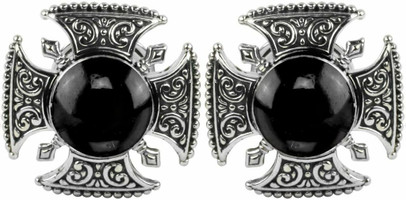 Konstantino Sterling Silver and Onyx Cufflinks