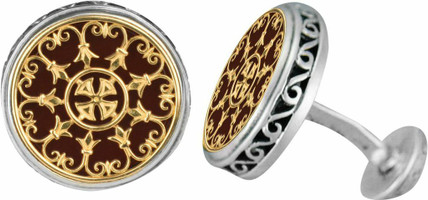Konstantino Sterling Silver and 18K Gold Cufflinks