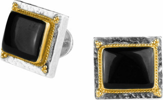 Konstantino Sterling Silver and 18K Gold Onyx Cufflinks