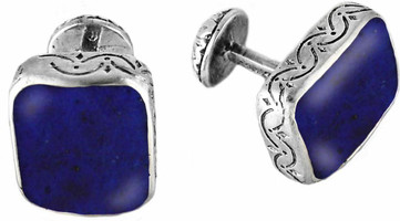 Konstantino Sterling Silver and Lapis Cufflinks