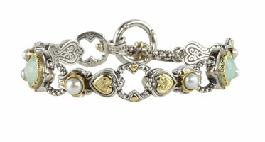 Konstantino Amphitrite Collection Sterling Silver & 18K Gold Link Bracelet
