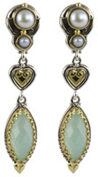 Konstantino Amphitrite Collection Sterling Silver & 18K Dangle Drop Earrings