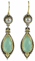 Konstantino Amphitrite Collection Sterling Silver & 18K Gold Wire Earrings