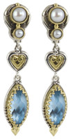 Konstantino Amphitrite Collection Sterling Silver & 18K Gold Dangle Drop Earrings
