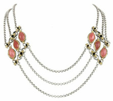 Konstantino Amphitrite Collection Sterling Silver & 18K Three Strand Necklace