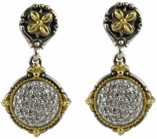 Konstantino Asteri Collection Sterling Silver & 18k Gold Petite Round Drop Earring