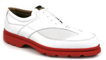Michael Toschi Golf Shoes G3 White with Red Sole