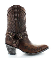 "Old Gringo Cowgirl 10"" Brass Boots"