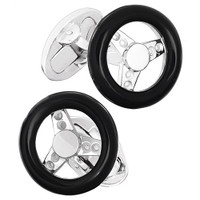 Jan Leslie Sterling Silver Steering Wheel Cufflinks