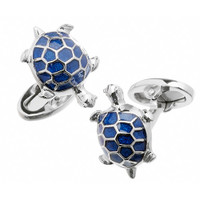Jan Leslie Sterling Silver Turtle Cufflinks