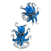 Jan Leslie Sterling Silver Octopus Cufflinks