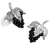 Jan Leslie Sterling Silver Wine Grapes Cufflinks