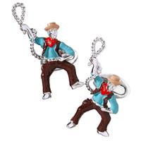 Jan Leslie Sterling Silver Cowboy Cufflinks