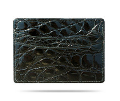 M-Clip Black Alligator Card Case