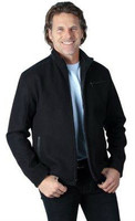 Remy Men's Wool Zip Front Jacket Black/Raven