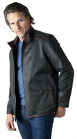 Remy Men's Leather Zip Up Front Motorcycle Jacket Sage/Cocoa