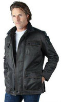 Remy Men's Leather Zip and Button Up Jacket Sage/Pampas