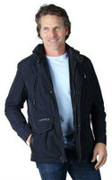 Remy Men's Zip and Button Front Jacket Pacific/Noir