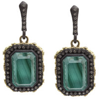 Armenta Malachite Doublet Emerald-Cut Earrings