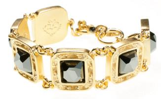 Virgins Saints & Angels Treausre Bracelet Gold and Hemadite