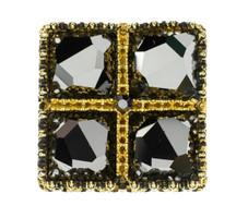 Virgins Saints & Angels Treasure Ring Gold and Hematite