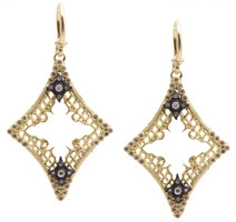 Armenta Earrings Medium Open Diamond-Shaped Mesh