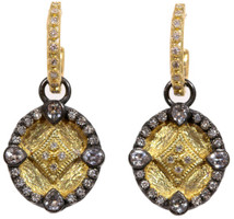 Armenta Earrings Closed Oval Shield Drop Diamonds