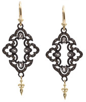 Armenta Earrings Open Scroll Drop