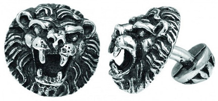King Baby Studio Small Lions Head Cufflinks