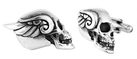 King Baby Studio Winged Skull Cufflinks