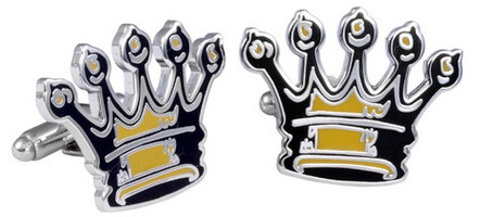 King Baby Studio Crowned Cufflinks