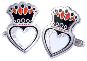 King Baby Studio Crowned Heart Cufflinks