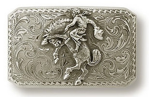 "Bohlin 1.5"" Cowboy and Bucking Bronco Trophy Buckle"