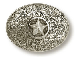 "Bohlin 1.5"" Sterling Silver Star Trophy Buckle"