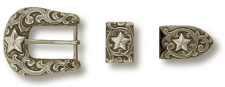 "Bohlin 1"" 3 Pc. All Star Ranger Buckle Set"