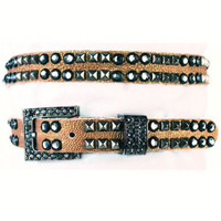 "Kippy's 3/4"" Rudess Belt with Crystal Buckle"