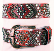 """Kippy's 1.5"""" Native Belt with Hammered Buckle"""