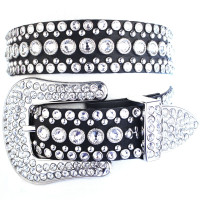 """Kippy's 1.5"""" Big Cowgirl Belt with Point Back Crystal Buckle"""