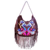 Kippy's Carnival Multi Tones J14 Fringe Bag w/ Chain