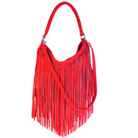 Kippy's Woodstock 2360F Fringed Hobo with Removable Shoulder Strap