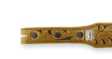 Bohlin Made Hand Tooled Navy Lizard and Alligator Belt