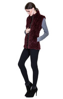 Bella Fare Wine Reversible Knitted Rex Vest